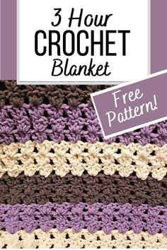 Crochet Flower Patterns, Afghan Crochet Patterns, Crochet Stitches, Crochet Quilt, Baby Blanket Crochet, Crochet Baby, Crochet Crafts, Crochet Projects, Crochet For Beginners Blanket