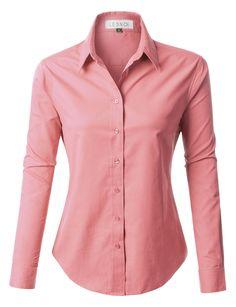 7b690c7459bd9 PREMIUM Womens Easy Care Long Sleeve Button Down Work Shirt