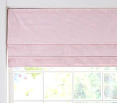 Gingham Cordless Roman Shade With Blackout Lining