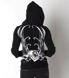 Metal Mulisha maidens long sleeve hooded fleece- Perfect for staying warm riding!