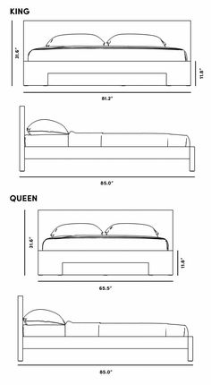 Dimensions for Fredrik Bed Interior Design Renderings, Drawing Interior, Bed Design, Door Design, House Design, Coupes Architecture, Movement In Architecture, Installing Recessed Lighting, Designs To Draw
