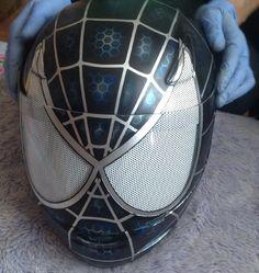 Cool Marvel Comics Spiderman motorcycle  helmet - Venom style. Motorbike.