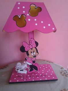 Lámpara mdf minnie mouse artesanal