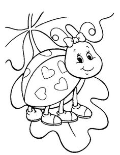 Love Bug Valentines Day Coloring Page