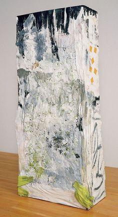 Franz West, Untitled. 1991, aluminum, wire, papier-mâché, and gauze, 71x33 x18 in.