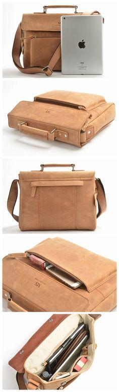 Genuine Leather Briefcase, Shoulder Bag, Macbook Bag, Men's Handbag