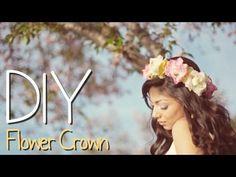 DIY Flower Crown! - YouTube
