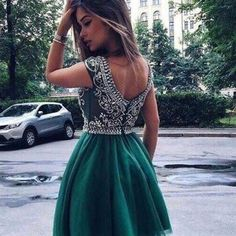 Hunter green homecoming dress,short prom dress,mini homecoming dresses,new arrival homecoming dress,pd00104
