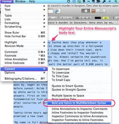 How to organize, compile, and export your novel to manuscript format using  Scrivener, no MS Word required.