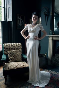 1940's INSPIRED BRIDAL GOWNS | Based on a 1940's wedding dress, has a slightly more A line skirt than ...