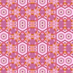 Pink_Azalea_Tile_3 fabric by bahrsteads on Spoonflower - custom fabric