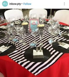 50s Birthday Party Table Setting and Decor