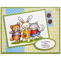 Stampendous Perfectly Clear Stamp - Spring Short Stack Perfectly Clear Stamps Set. Zoom
