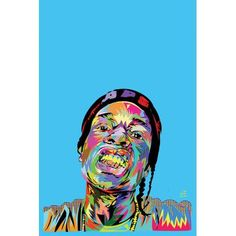 """Mercury Row A$AP Rocky Graphic Art on Wrapped Canvas Size: 40"""" H x 26"""" W x 0.75"""" D"""
