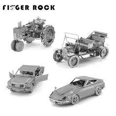 손가락 바위 3d 금속 퍼즐 diy 모델 선물 세계 차량 포드 자동차 택시 비틀 자동차 트랙터 jigsaws 장난감 선물 선물