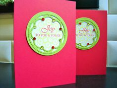 Handmade Christmas Cards Set of 3 Holiday Cards by apaperaffaire