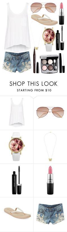 """""""Warmth"""" by maralf-1 on Polyvore featuring rag & bone, H&M, Lipsy, Gorjana, Marc Jacobs, Chanel, MAC Cosmetics and Reef"""