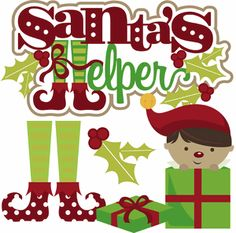 Santa's Helper - Boy Cutouts