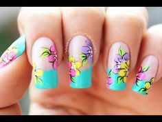 We have gathered some of the best nail art designs. Be sure to check them all out. Flame Nail Art, Nail Art Pen, Nail Art Brushes, Cool Nail Art, Daisy Nails, Flower Nails, How To Do Nails, Fun Nails, Airbrush Nails
