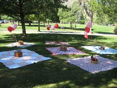 Curious George birthday party in the park