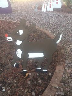 Rudolph.  From Rudoulph the Red Nosed Reindeer.  Christmas yard decoration i made from plywood