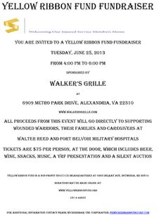 YRF Fundraiser - Alexandria, VA - Tuesday, June 25th from 4:00pm to 6:00pm  http://military-civilian.blogspot.com/2013/06/yrf-fundraiser-alexandria-va-tuesday.html