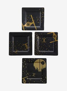 Star Wars Black   Gold Empire Plate Set 74d534cc29