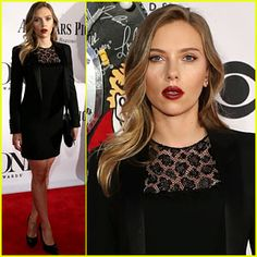 Loved Scarlett Johansson's femme fatale look at the Tony Awards!
