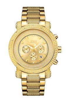 Men's Victor Diamond Bracelet Watch - 0.16 ctw
