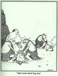 I am a big fan of the Far Side cartoons. This one is about my favorite. Far Side Cartoons, Far Side Comics, Funny Cartoons, Funny Comics, Cartoon Jokes, Gary Larson Cartoons, The Far Side, Haha Funny, Funny Jokes