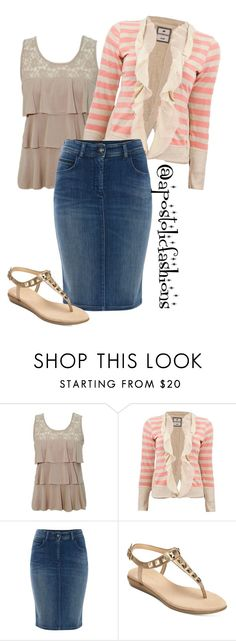 """Apostolic Fashions #1272"" by apostolicfashions ❤ liked on Polyvore featuring Armani Jeans and Aerosoles"