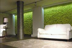 Mosstile: jardín artificial para revestir paredes de interior