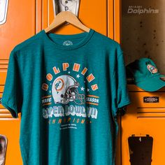 Men s  47 Aqua Miami Dolphins On the Fifty Super Bowl VIII Champion Flanker  T- d05f86be0