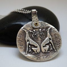 Greyhound Necklace  Greyhound Jewelry  Balance Two by bethwade, $95.00 *Copyright Beth Wade Design