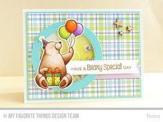 Birthday Bears, Birthday Bears Die-namics, Pierced Circle Frames Die-namics, Pierced Fishtail Flags STAX Die-namics - Torico  #mftstamps