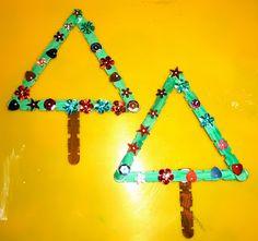 Mom to 2 Posh Lil Divas: 5 Homemade Craft Stick Christmas Ornaments for Kids