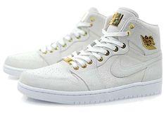 "low priced 36550 8b5a8 Air Jordan 1 ""Pinnacle"" White Release - Thumbs Up. White And Gold  JordansRetro ..."