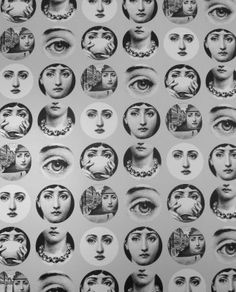 Fornasetti - my best friend's mom has this wallpaper. It looks awesome. -Reb