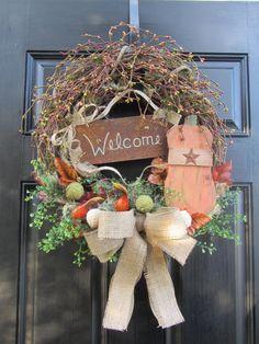 Pumpkin wreath - another sweet one!  :)