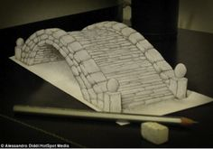 Pics For > 3d Art Drawing On Paper
