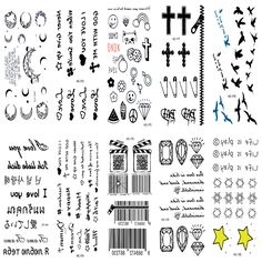 10pcs Tattoo Sleeve Body Art Sex Products Black White Sketch Figure Pictures Water Transfer Temporary Flash Fake Tattoos Sticker #Affiliate