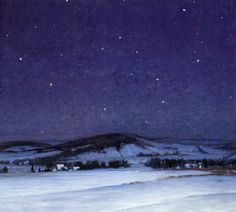 Seeking superior fine art prints of Moonlight, Bucks County by George Sotter? Customize the size, media & framing for your style. Painting Snow, Winter Painting, Nocturne, Night Shadow, American Impressionism, Poster Prints, Art Posters, Bucks County, Winter Landscape