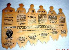 AUNT JEMIMA & FAMILY Advertising Paper dolls_back
