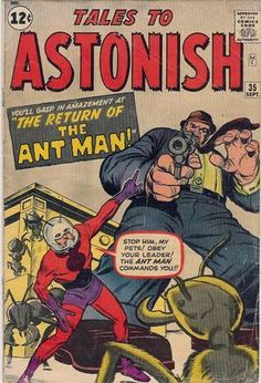 Tales to Astonish 35. Jack Kirby, Dick Ayers, Stan Goldberg y Artie Simek. #HombreHormiga #JackKirby