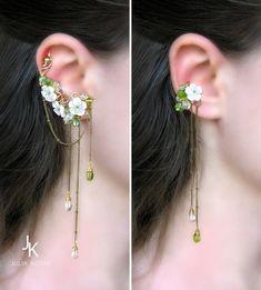 Ear Jewelry, Cute Jewelry, Jewelry Accessories, Fashion Accessories, Fashion Jewelry, Jewelry Design, Jewelry Making, Jewelry Ideas, Bride Hair Accessories