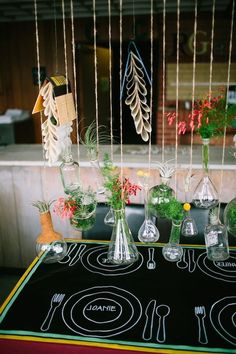 Indie Wedding Decorations.  Pinned by Afloral.com from ruffledblog.com ~Afloral.com has high-quality silk flowers and decorations for your DIY wedding ideas.