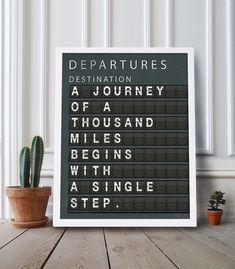 Travel Print Large Art Quote Print Living Room by CocoAndJamesHome