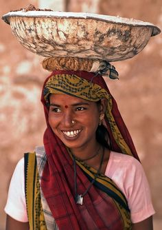 Woman Construction Worker, India (by Jeremy Richards)