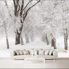 3D Schnee Wald 28787 Fototapeten Wandbild Fototapete BildTapete FamilieDE