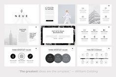 neue minimal powerpoint template - present your works in a, Presentation templates